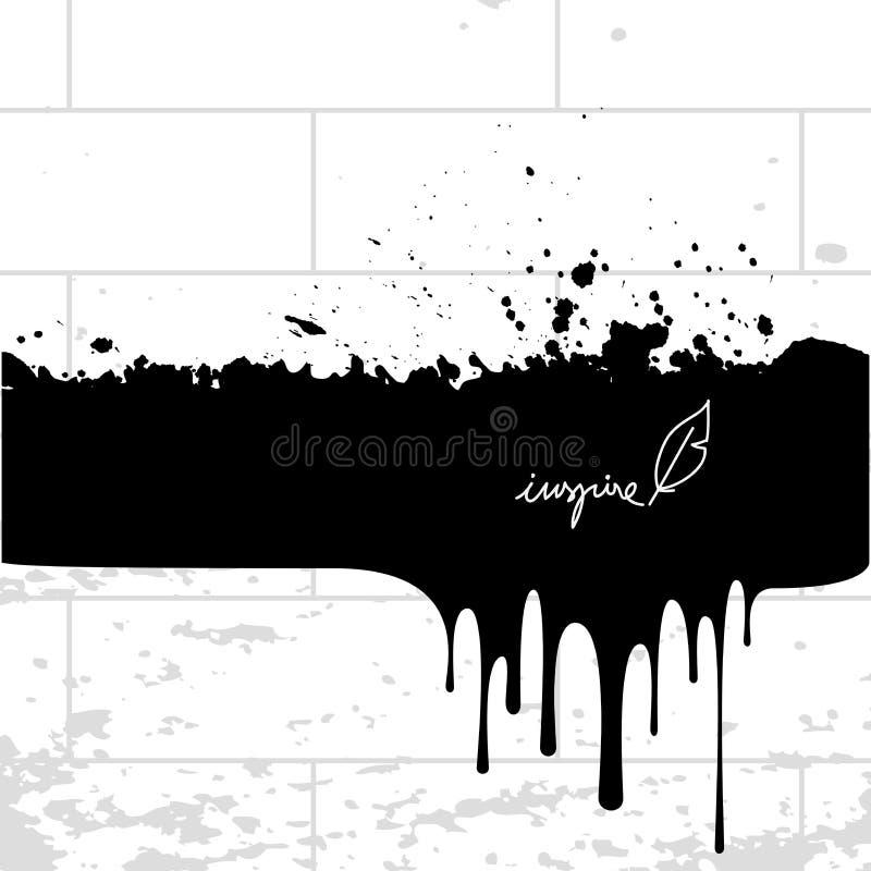 Chapoteo de la tinta, derramamiento de la pintura libre illustration