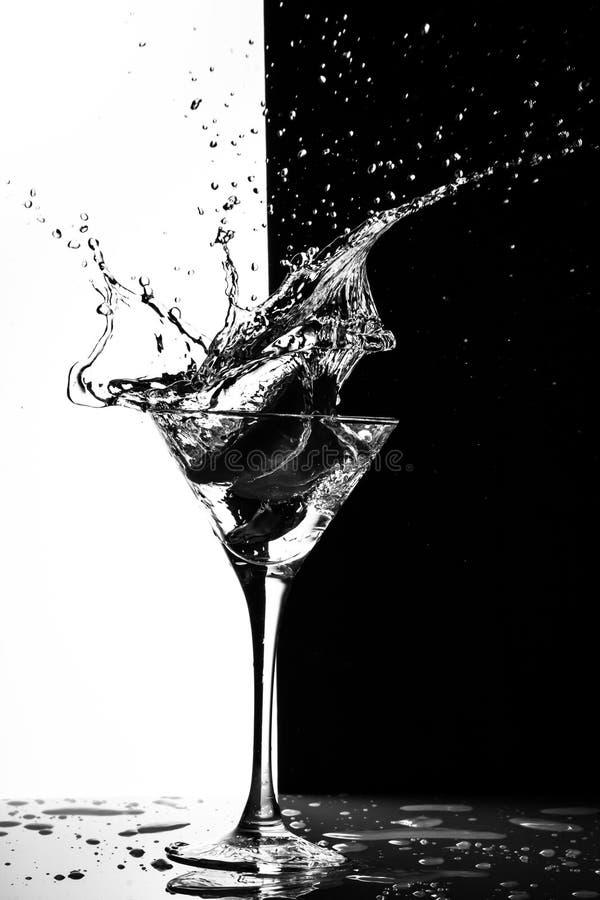 Chapoteo de Martini imagen de archivo