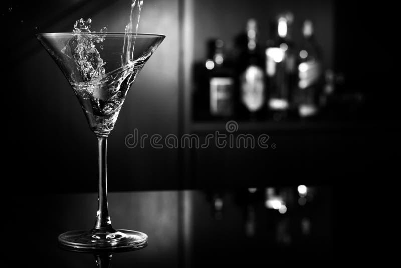 Chapoteo de Martini fotos de archivo