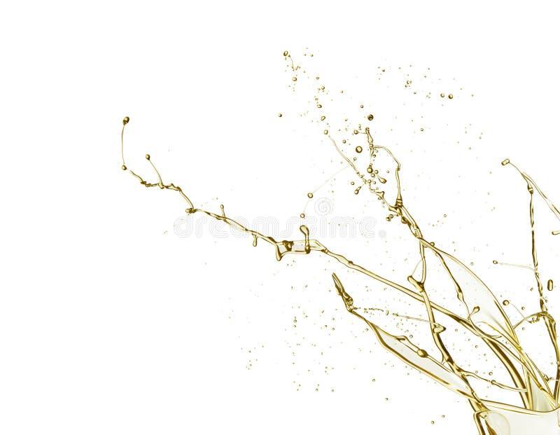 Chapoteo del aceite ilustración del vector