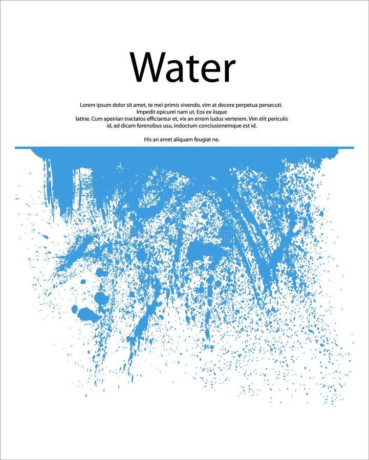 Chapoteo del agua stock de ilustración
