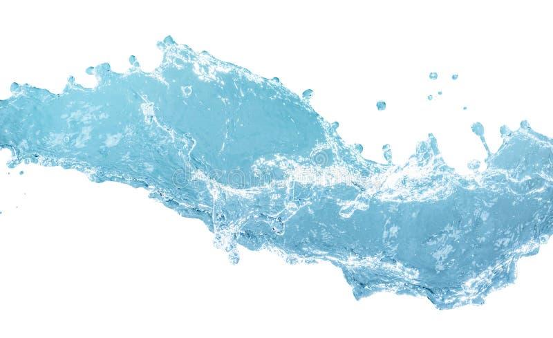 Chapoteo del agua azul imagen de archivo