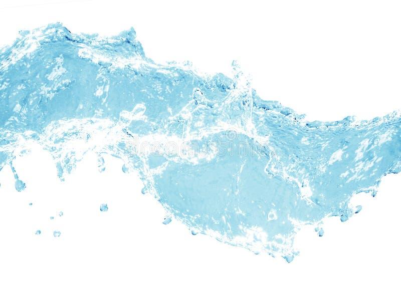 Chapoteo del agua azul fotos de archivo