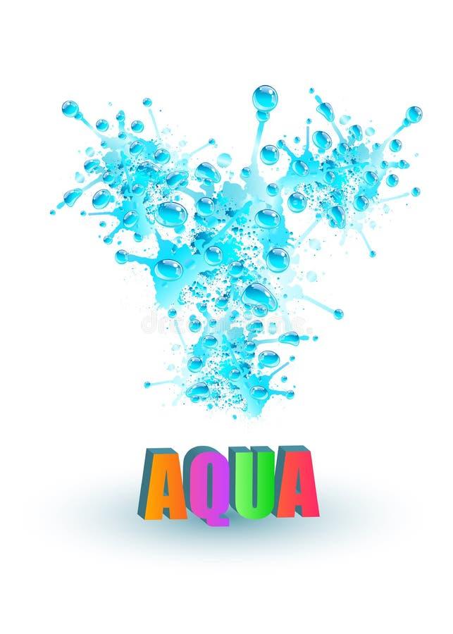Chapoteo del agua azul, ejemplo del vector libre illustration