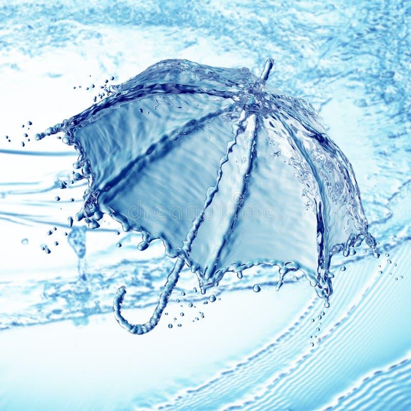 Chapoteo del agua bajo la forma de paraguas libre illustration