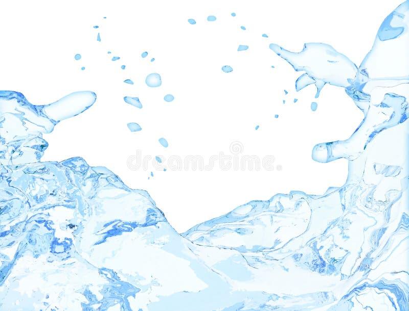 Chapoteo del agua en blanco ilustración del vector