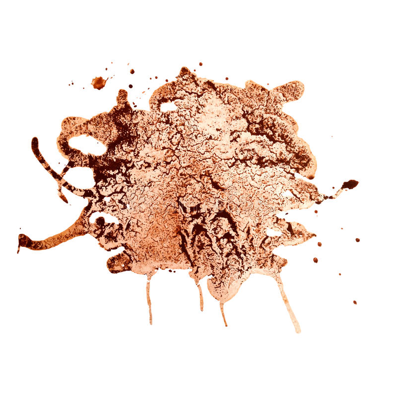 Chapoteo del café para el diseño. ilustración del vector