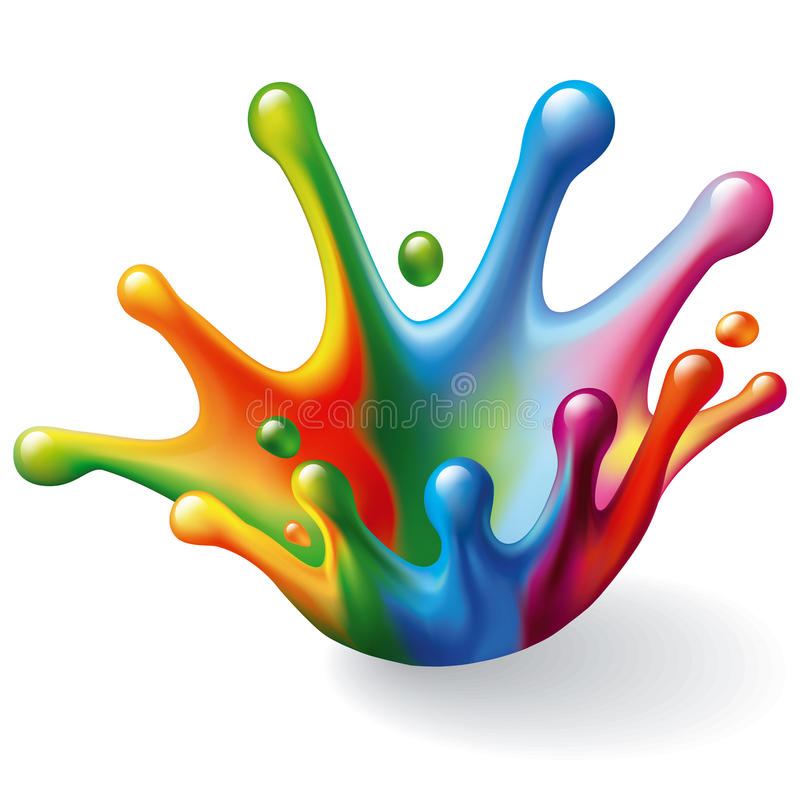 Chapoteo del color ilustración del vector