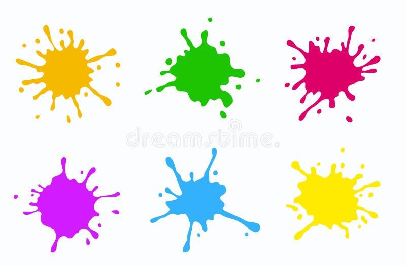 Chapoteo 2 del color stock de ilustración
