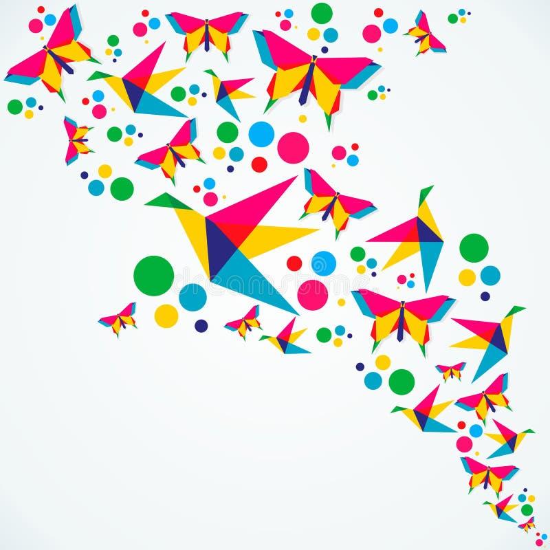 Chapoteo del color del verano ilustración del vector