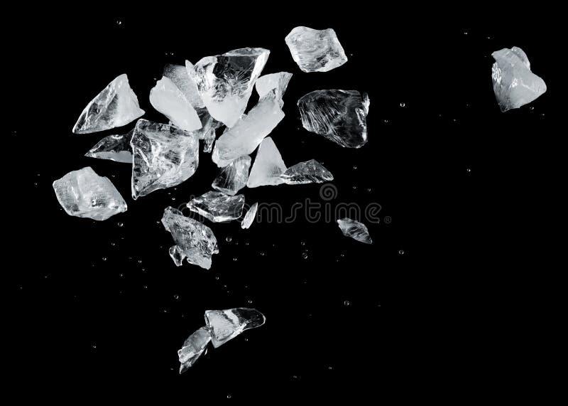 Chapoteo del hielo imagen de archivo libre de regalías