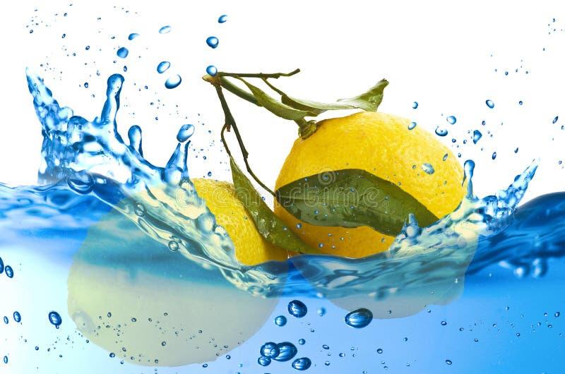 Chapoteo del limón foto de archivo libre de regalías
