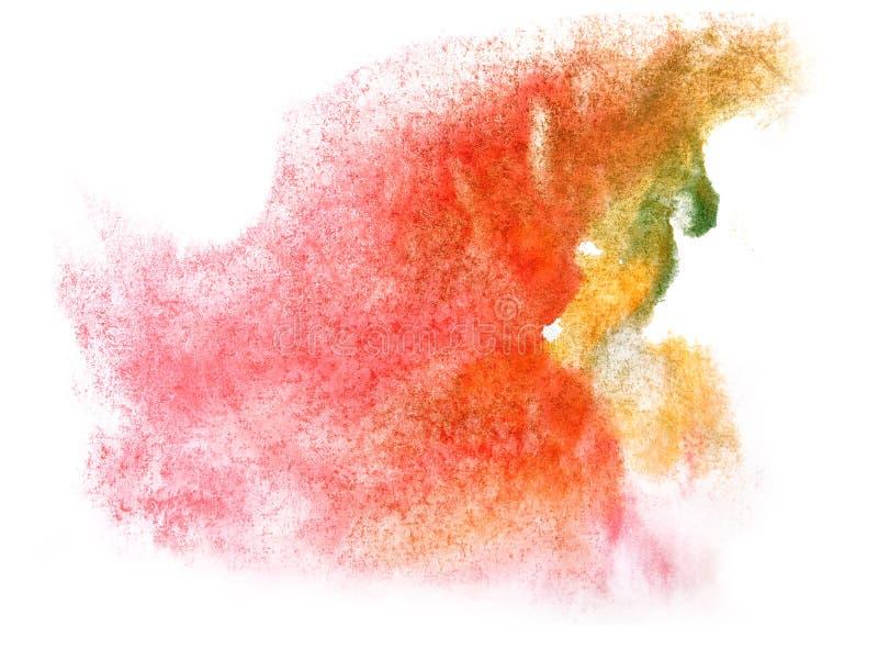 Chapoteo del watercolour de la gota de la pintura de la tinta de la acuarela del arte libre illustration
