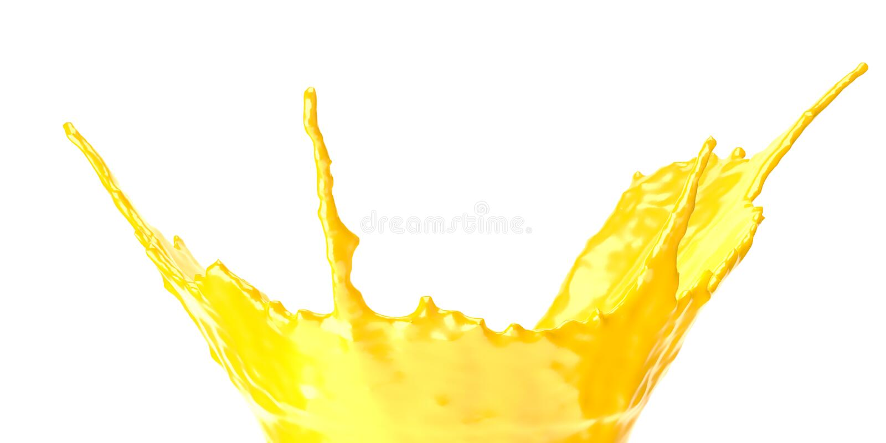 Chapoteo del zumo de naranja aislado en el fondo blanco Zumo de naranja con la rebanada anaranjada libre illustration