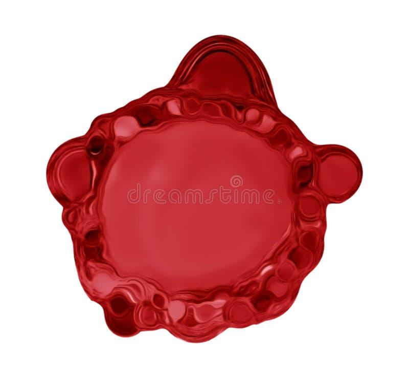 Chapoteo líquido rojo ilustración del vector