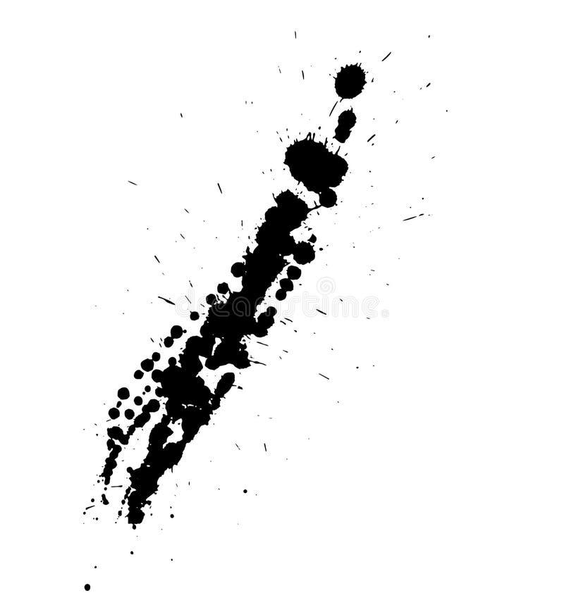 Chapoteo negro de la pintura stock de ilustración