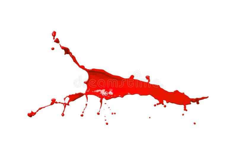 Chapoteo rojo de la pintura imagenes de archivo