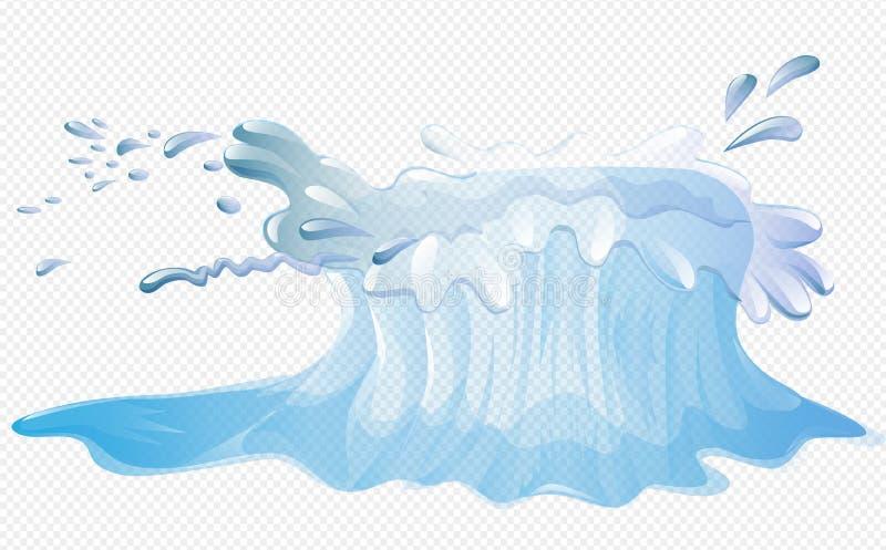 Chapoteo simplemente grande del agua ilustración del vector