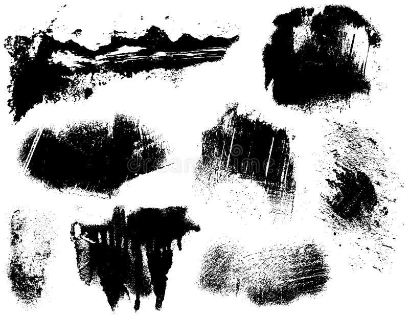 Chapoteo sucio ilustración del vector