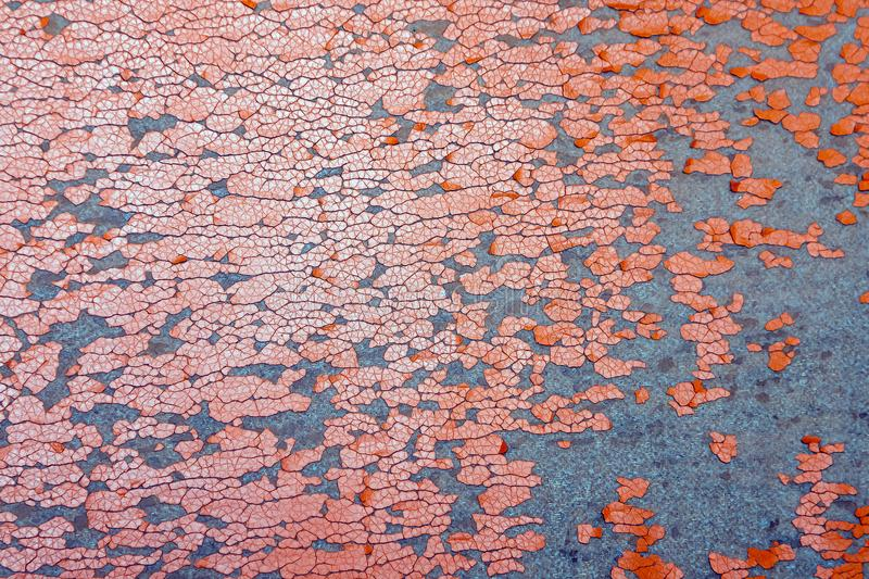Chapped structure of orange leatherette as background stock photo
