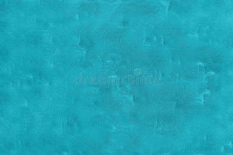 Chapped texture of an old scratched blue wall with turquoise reflections stock illustration