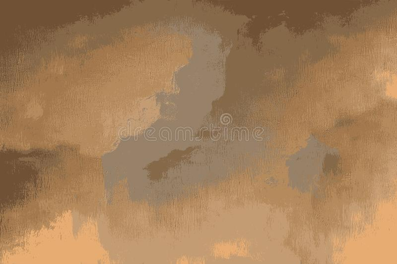 Chapped texture of a scratched wall painted in orange stock illustration