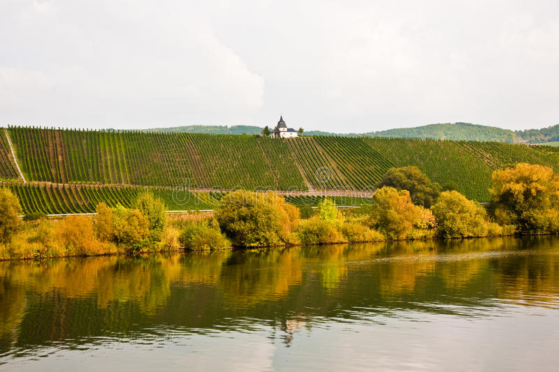Chappel at the vineyard near Trittenheim at the river. Mosel royalty free stock photos