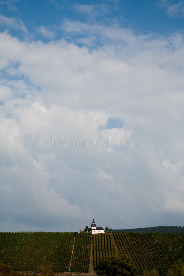 Chappel at the vineyard near Trittenheim at the river. Mosel royalty free stock photography