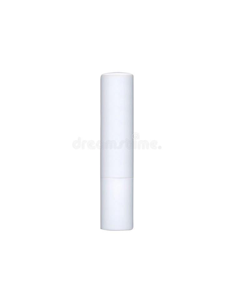 Chapstick ha isolato su bianco fotografia stock