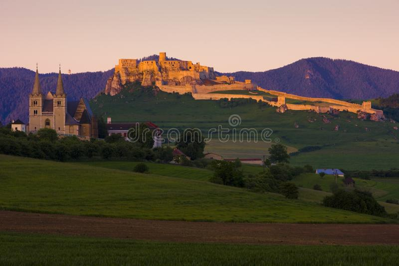 Chapter Spisska and Spissky Castle, Slovakia. Outdoor, outdoors, outside, exterior, exteriors, europe, central, republic, czechoslovakia, hrad, architecture stock photo