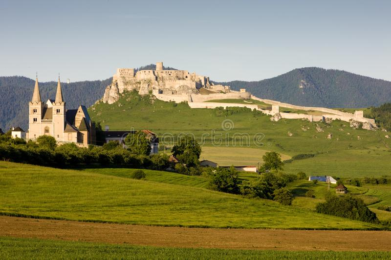 Chapter Spisska and Spissky Castle, Slovakia. Outdoor, outdoors, outside, exterior, exteriors, europe, central, republic, czechoslovakia, hrad, architecture royalty free stock photos
