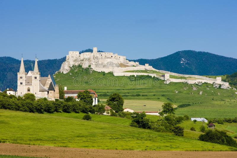 Chapter Spisska and Spissky Castle, Slovakia. Outdoor, outdoors, outside, exterior, exteriors, europe, central, republic, czechoslovakia, hrad, architecture stock images