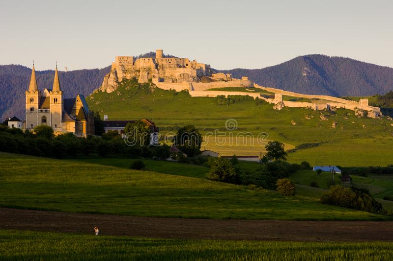 Chapter Spisska and Spissky Castle, Slovakia. Outdoor, outdoors, outside, exterior, exteriors, europe, central, republic, czechoslovakia, hrad, architecture royalty free stock photo
