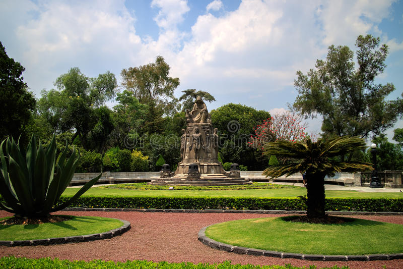 Chapultepec Castle Garden royalty free stock photos