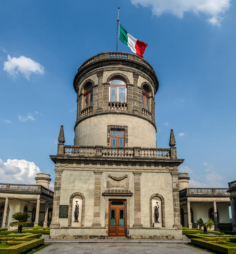 Chapultepec-Schlossturm - Mexiko City, Mexiko lizenzfreie stockbilder
