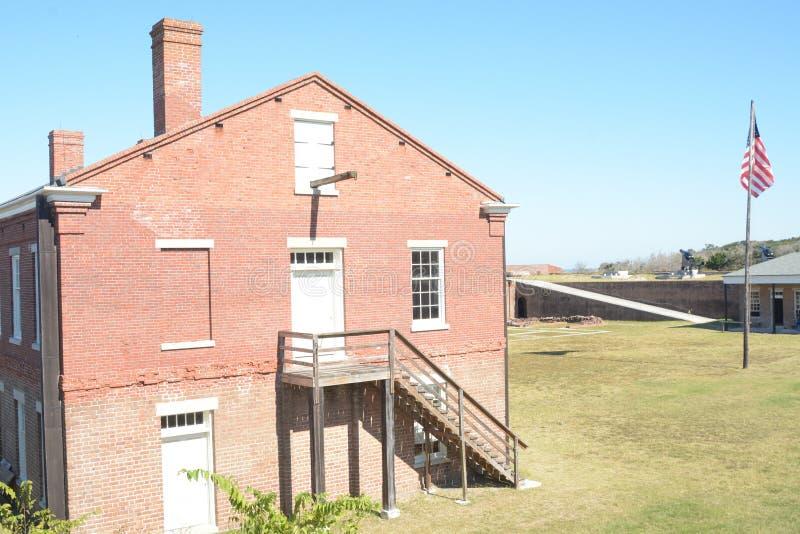 Chaque bâtiment au repli de fort a été employé pour une raison spécifique images stock