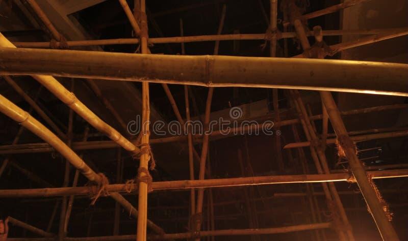 Chaque bambou a la doublure d'or image libre de droits