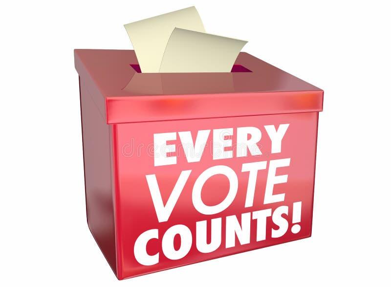 Chaque vote compte l'urne de sujets illustration stock