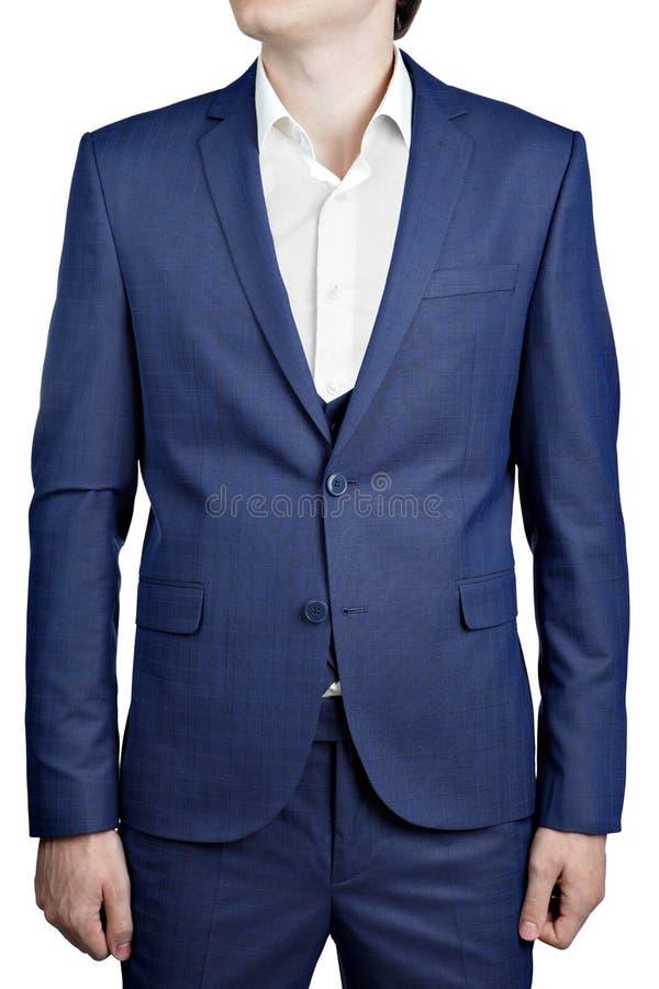 Chaqueta a cuadros del traje de los azules marinos el la noche del baile de fin de curso para el hombre fotos de archivo