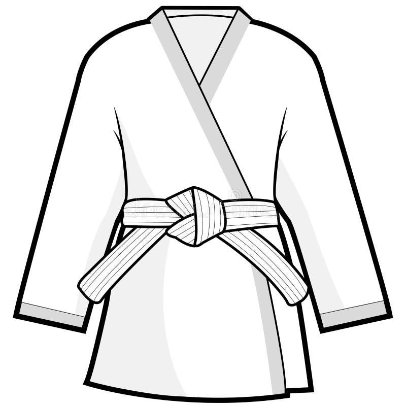 Chaqueta del kimono de los artes marciales stock de ilustración