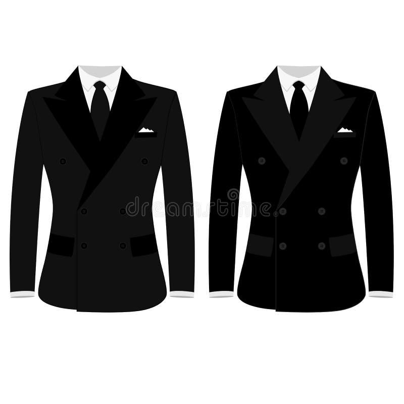 Chaqueta del ` s de los hombres Traje del ` s de los hombres de la boda, smoking ilustración del vector