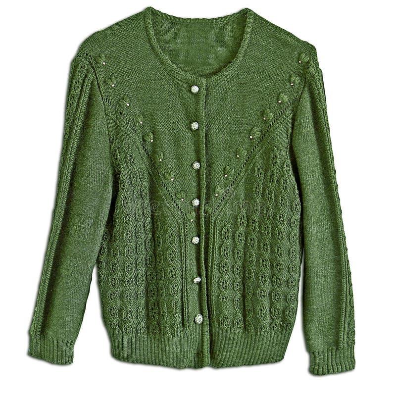 Chaqueta verde de las lanas de la mujer, estilo tradicional de Tracht del alemán foto de archivo