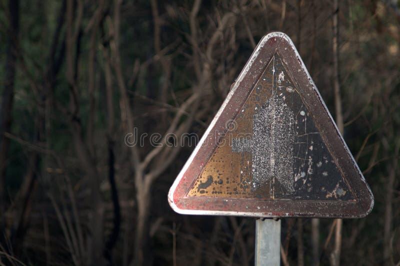 Charłacki znak ostrzegawczy fotografia royalty free