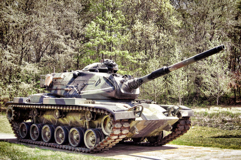 Char de bataille de M60 Patton d'armée américaine de combat photos stock