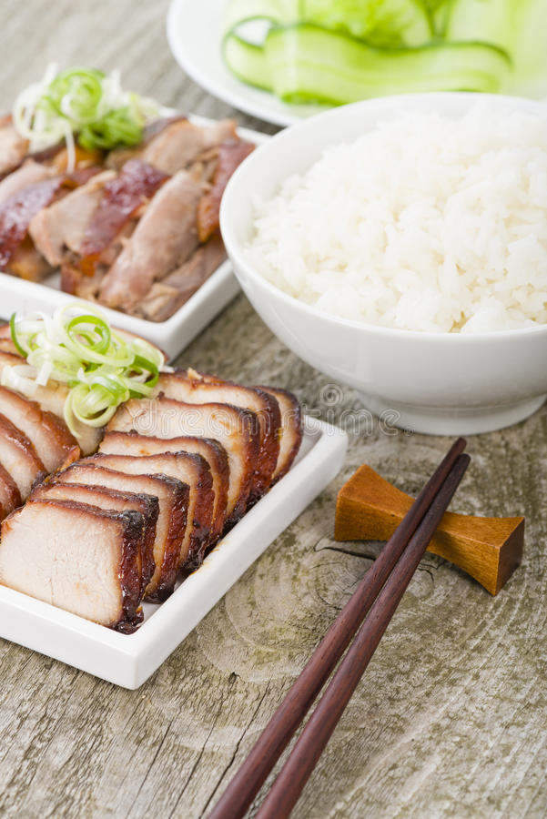 Free Char Siu Pork & Peking Duck Royalty Free Stock Image - 35785576