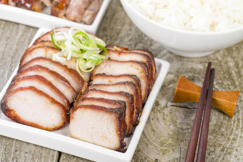 Char Siu Pork & Peking Duck royalty free stock photography