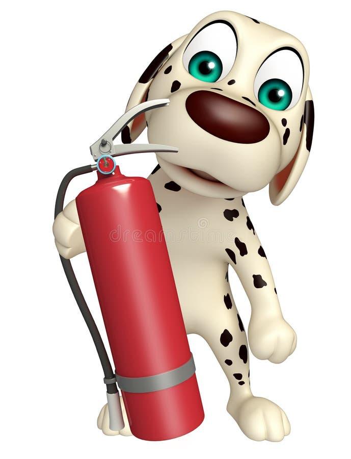 Characte шаржа собаки с огнетушителем иллюстрация штока