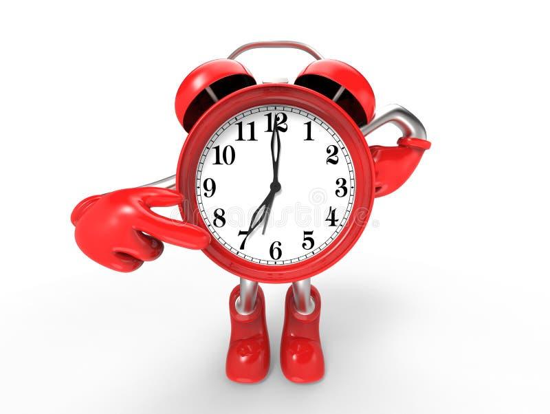 Character alarm clock 3 royalty free illustration