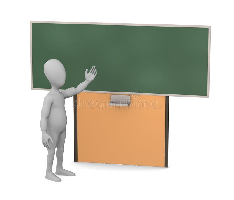 Download Character With Blackboard - Shows And Teach Stock Illustration - Illustration: 24557640