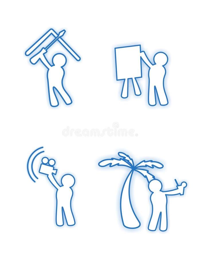 Download Character blue icons stock illustration. Illustration of design - 5597856